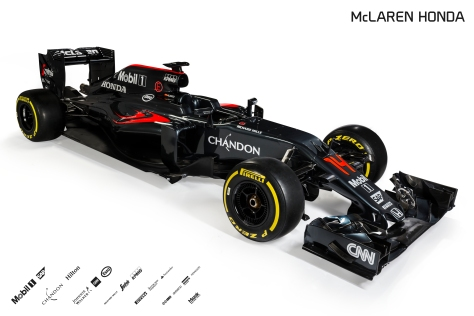 2016 McLaren Honda MP4-31 Front Three Quarter