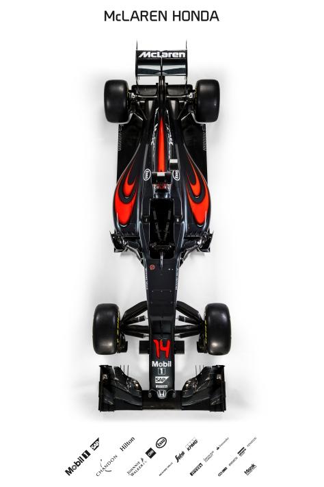 2016 McLaren Honda MP4-31 Overhead