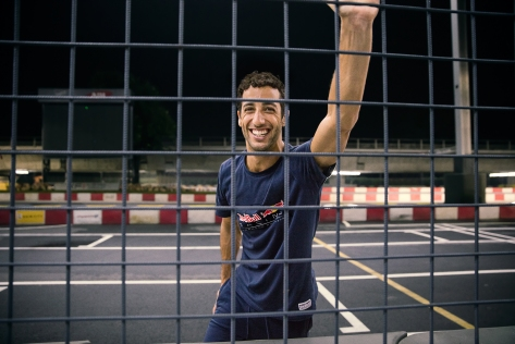 Red Bull Racing Driver Daniel Ricciardo Wears the New SS16 PUMA Red Bull Racing Lifestyle Collection_4