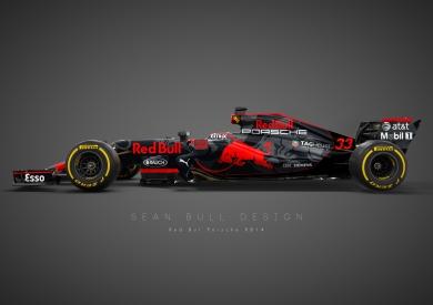 red bull Porsche